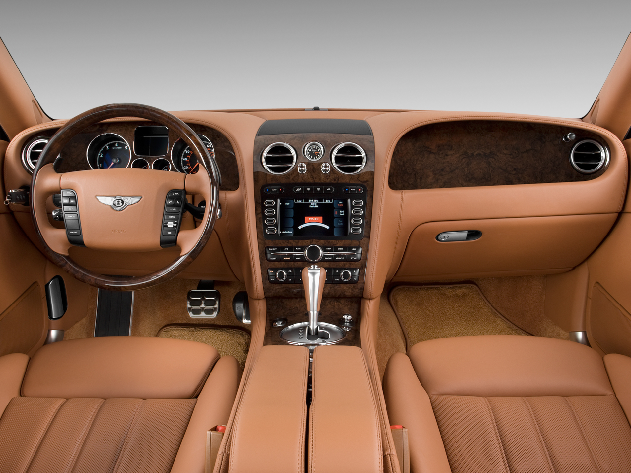 Front Dashboard of Bentley