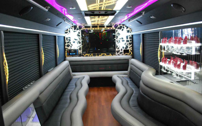 Interior Design of Partybus and Limo