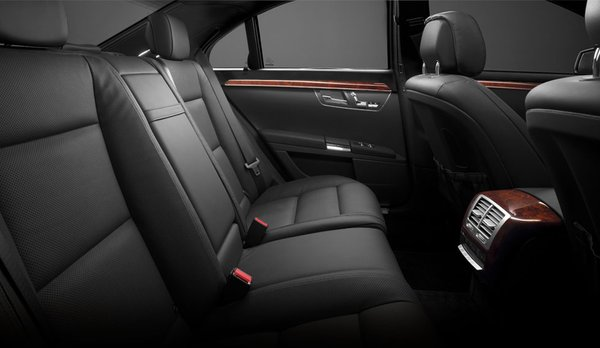 Back Seat of Mercedes Benz S 550