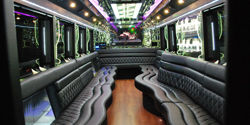 US Bargain Limo Interior design of 20 Pax Limo Party Bus