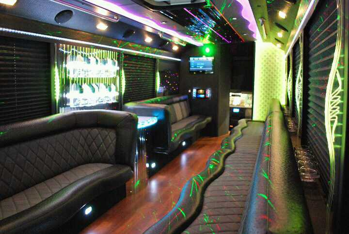 Interior of Party Bus 27 Pax