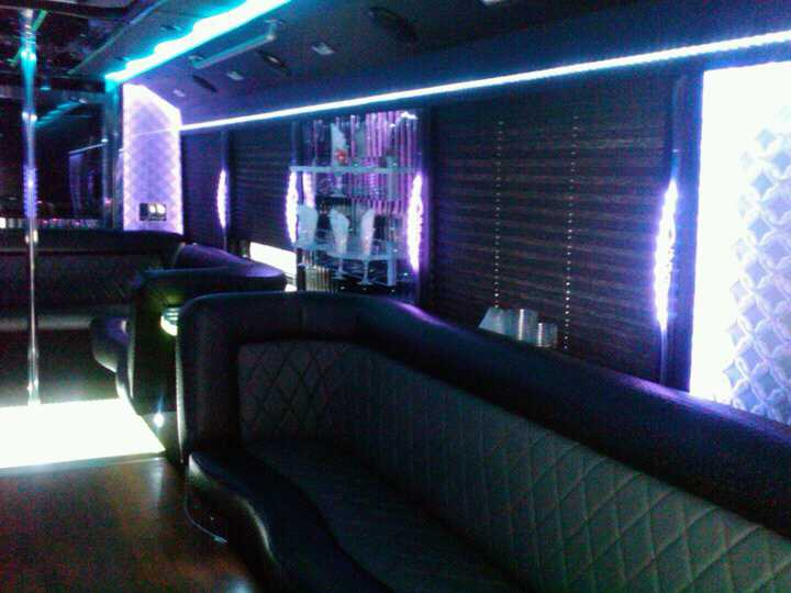 Interior design of 27 Pax Limo Party Bus