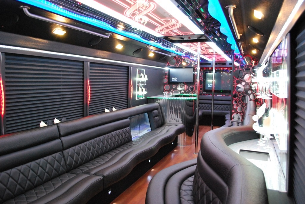 Interior of Party Bus 40 Pax