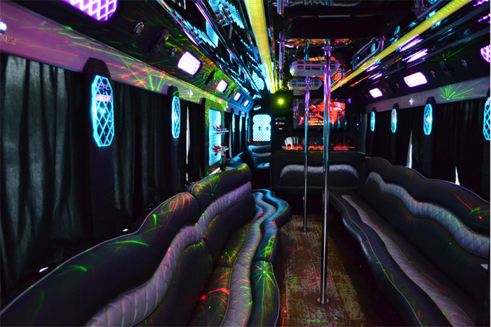 US Bargain Limo 50 sitted in 50 Pax party bus