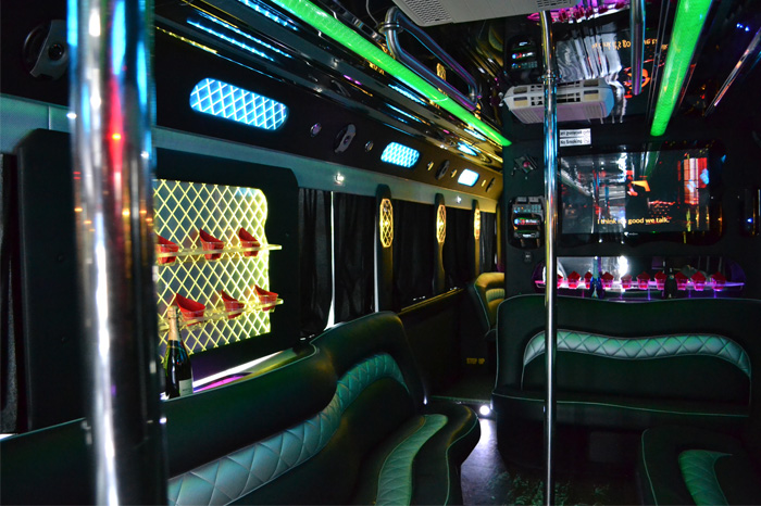 Interior design of Party Bus 50 Pax