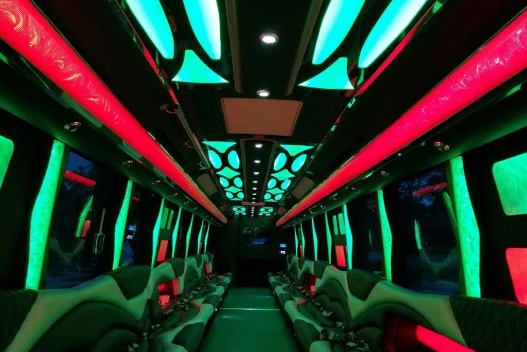 52 Pax party bus with a VIP Room