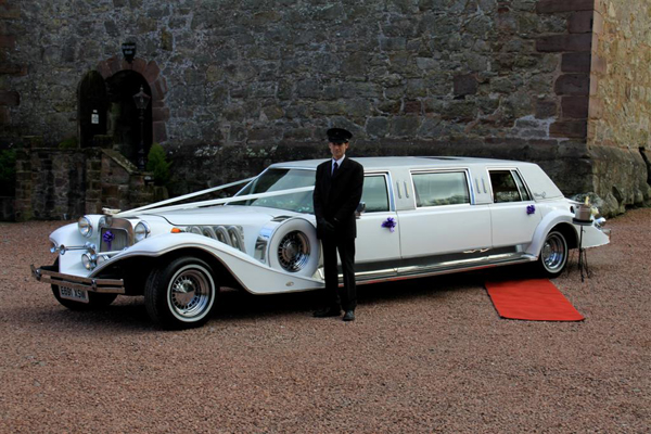US Bargain Limo Luxury Excalibur white color