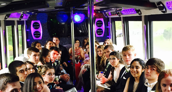 Prom Party Bus And Limo In Nj And Nyc Us Bargain Limo