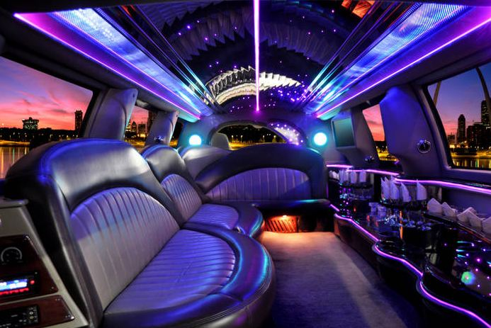 Interior design of bachelor party bus