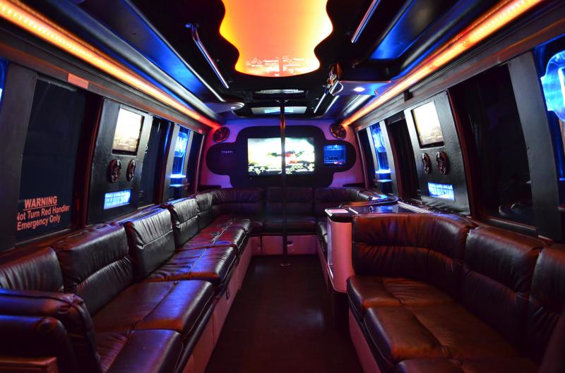 group transportation limo interior